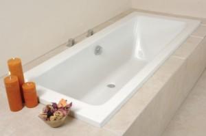 Double ended bath cubix shower bath