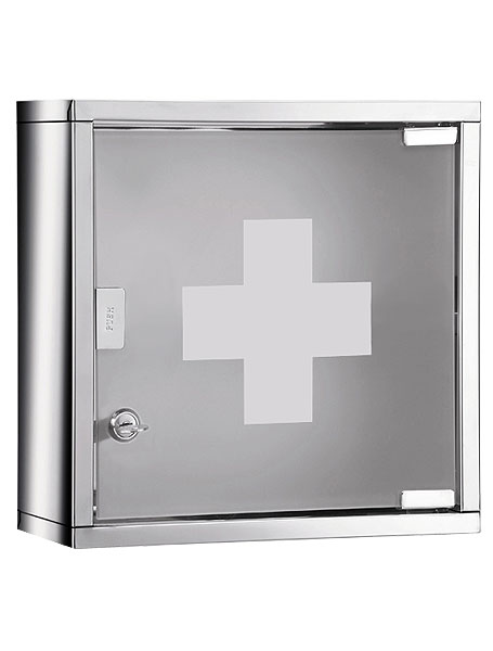 lockable medicine cabinet for the bathroom