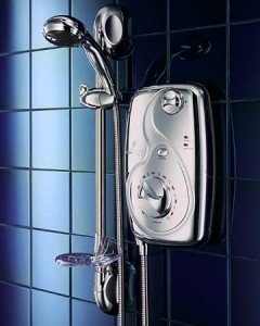 Chrome electric showers